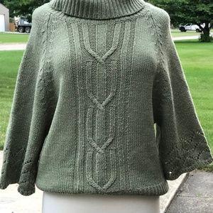 Fenn Wright Green Turtleneck Sweater